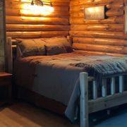 bed in bear cabin