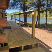 porch bear cabin