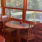 table in bear cabin