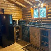 kitchen in bear cabin