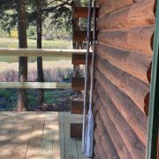 porch decor bear cabin