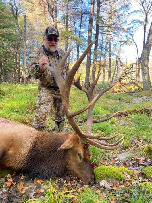 George with bull elk