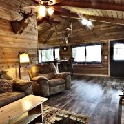 Moose Cabin Living Room Dining