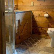 bathroom wolf cabin