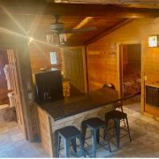 overhead wolf cabin