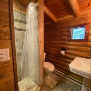 bathroom in bed cabin
