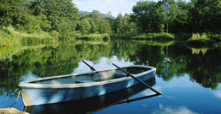 Wisconsin Getaways Boat by Bear Cabin