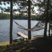 Relax in Hammock at Wolf Cabin