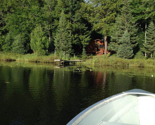 View of Bear Cabin from Lake